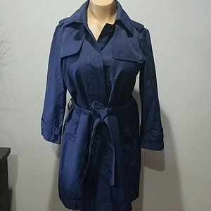 Gap Navy Blue Belted Trench Coat